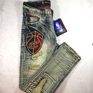 Unk Denim NBA Cleveland Cavaliers Distressed Jeans